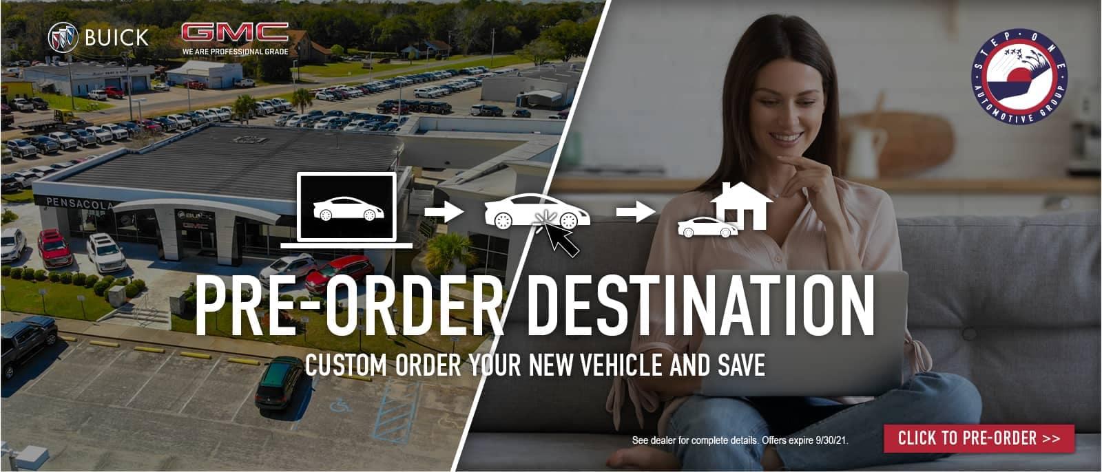 Pre-Order Destination