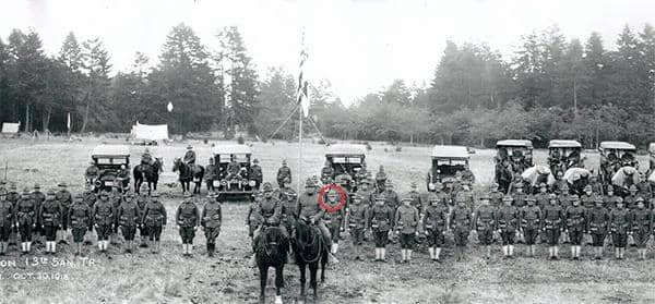 Army Ambulance Core - 1918 LG Peterson pictured just to the right of the horse on the right